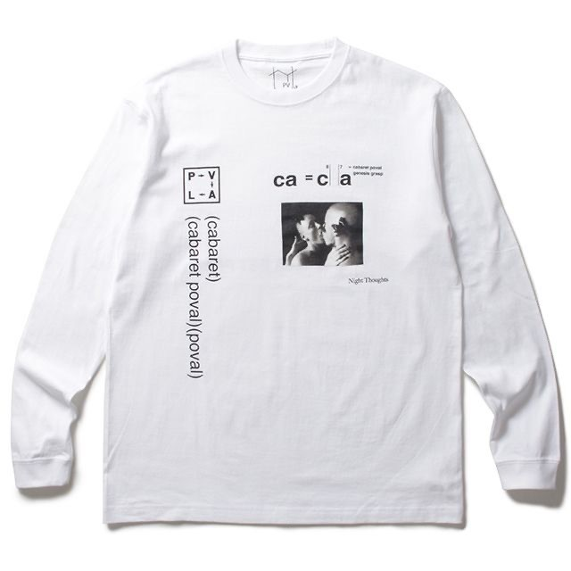 POVAL L/S TEE NIGHT THOUGHTS L/S TEE WHITE