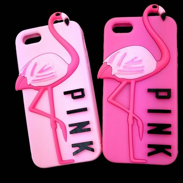 フラミンゴiphone5/SE対応シリコンカバー【PINK】【大人気商品‼︎】
