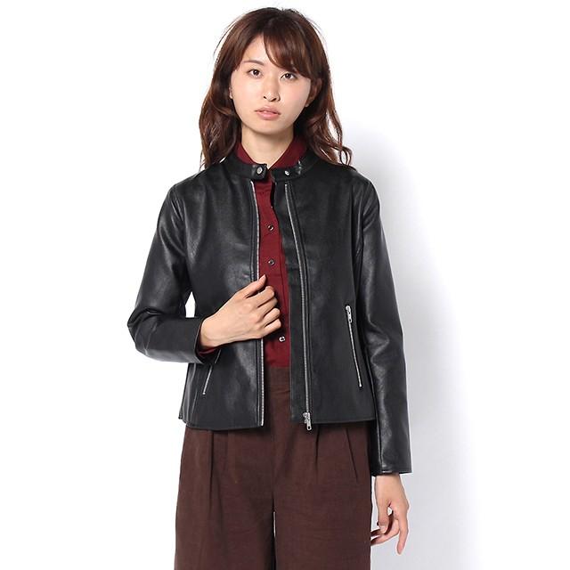 ライダースジャケット シングル (ブラック) 3026024