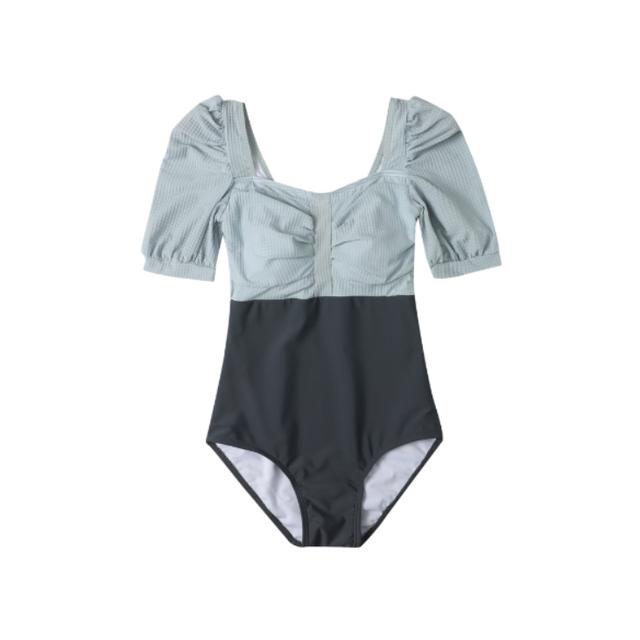 【即納】bi-color  swim wear