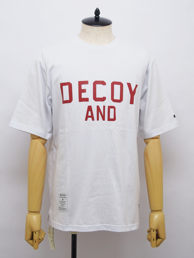 DECOY & CO. (デコイアンドシーオー) DECOY LOGO TEE / WHITE D63450-00