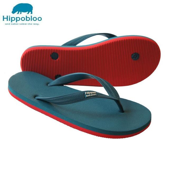 【Hippo Bloo】ビーチサンダル (ブラウン/ライトブルー)