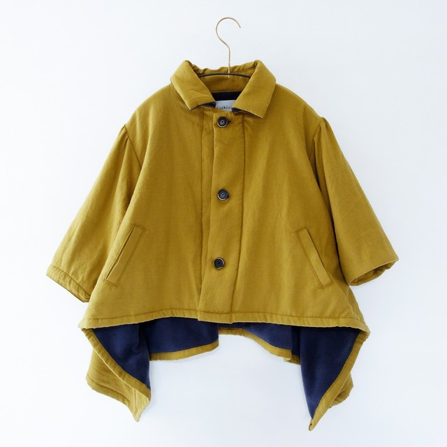 《michirico 2020AW》Back fleece coat / mustard / S・M