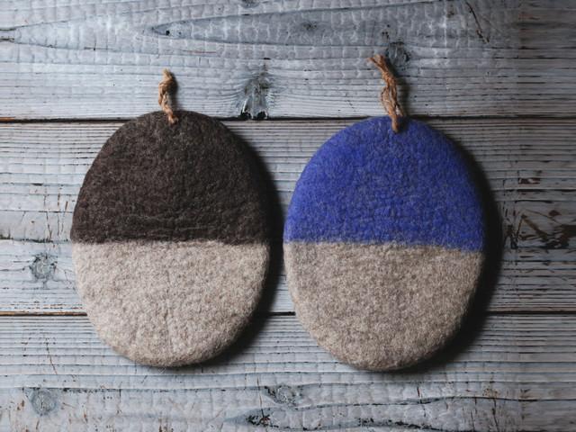 羊毛のポットホルダー / モンゴル