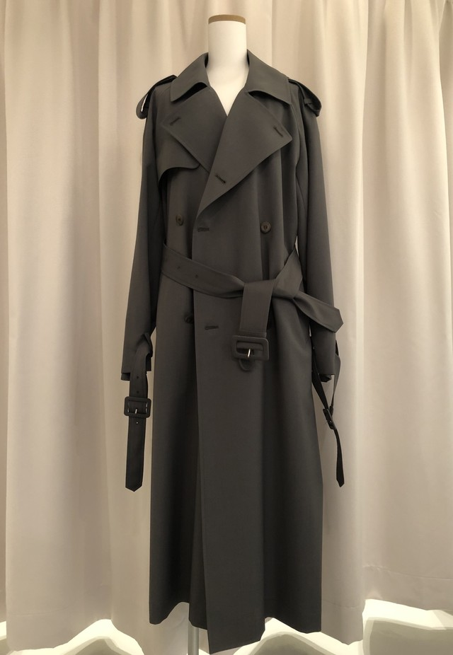 GVGV-WOOL MOHAIR BLEND TRENCH COAT