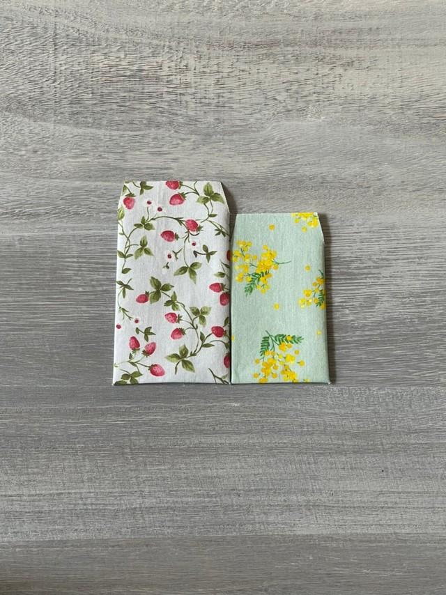 ポチ袋(2枚セット) いちご&花柄
