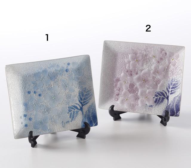 七宝飾皿 紫陽花