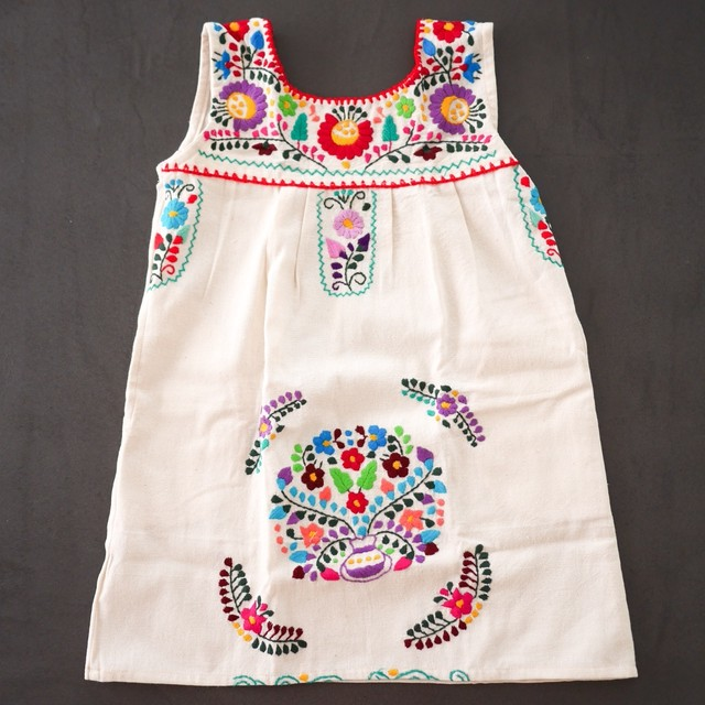 Mexican Embroidered Dress [Size 4T/110cm]