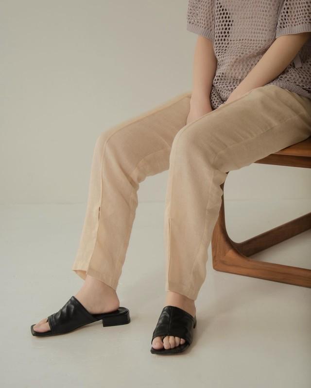 see through linen pants