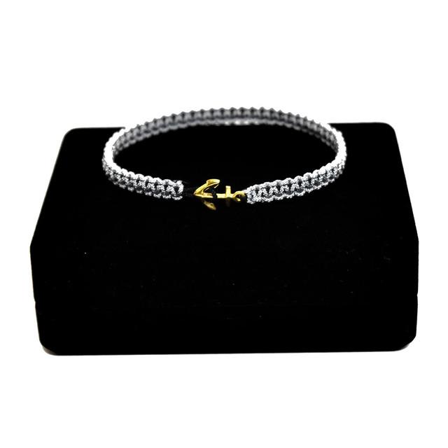 【無料ギフト包装/送料無料/限定】K18 Gold Anchor Bracelet / Anklet Gray【品番 17S2010】