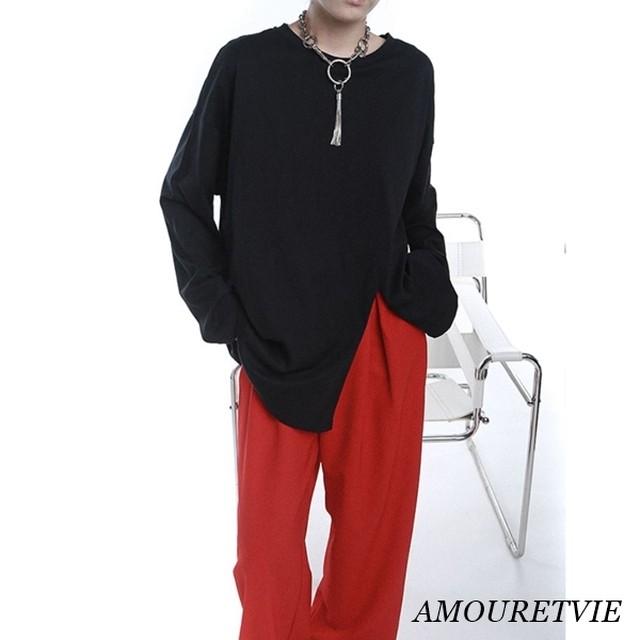 【モード系】アシンメトリーモダンデザインシャツ 2260