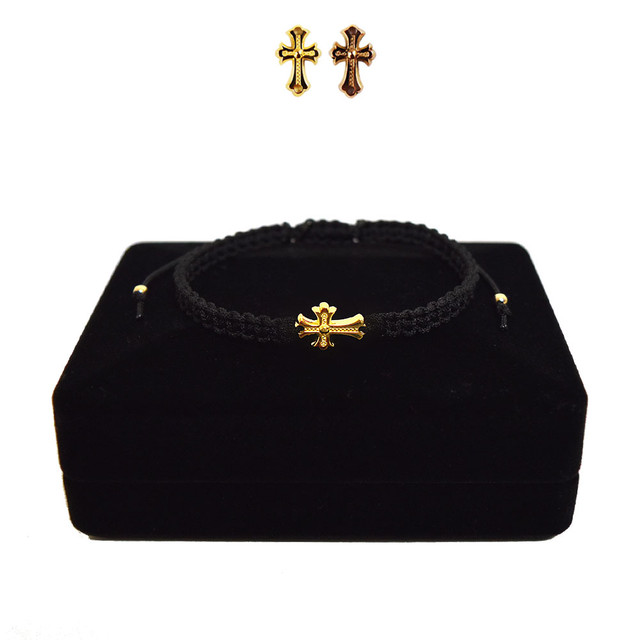 【無料ギフト包装/送料無料/限定】K18 Gold Baby Crux Bracelet / Anklet  Black【品番 21S2001】