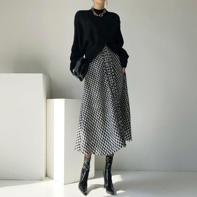 knit & skirt set up KRE594