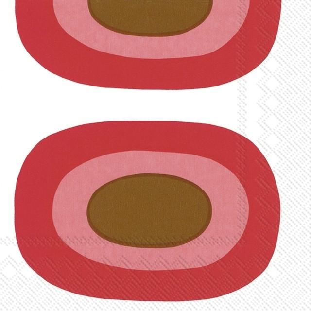 2021春夏新作【marimekko】バラ売り2枚 カクテルサイズ ペーパーナプキン MELOONI レッド
