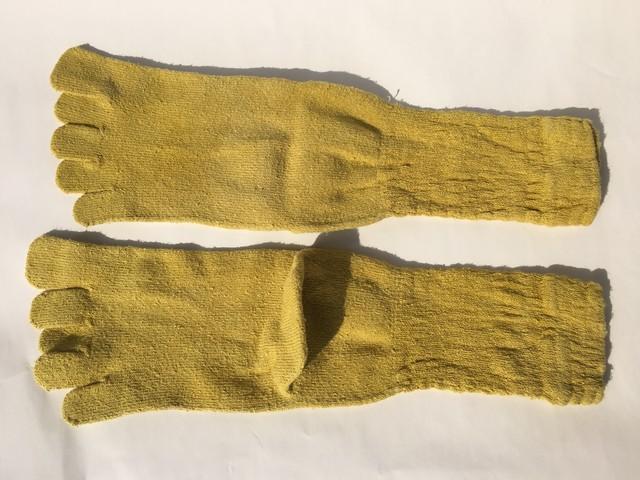 シルク 草木染め マリーゴールド 5本指ソックス 22~25cm