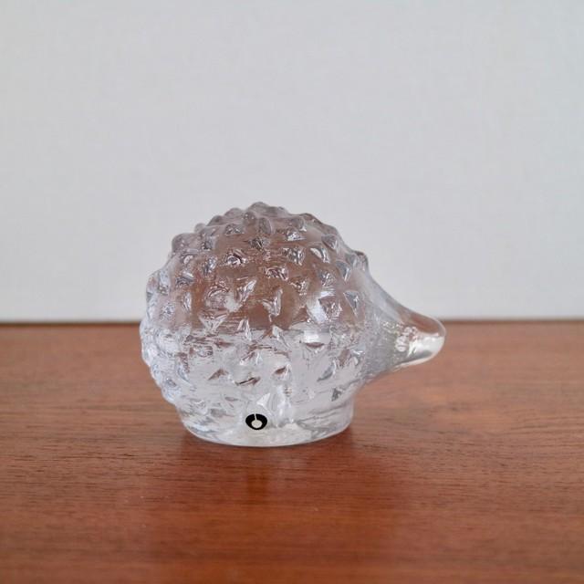 Pukeberg スウェーデン / ガラス ハリネズミ オブジェ