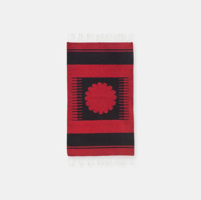 Sol De Oaxaca Rug Red S Issac Vasquez Garcia オアハカラグ アイザックバスケス工房 004