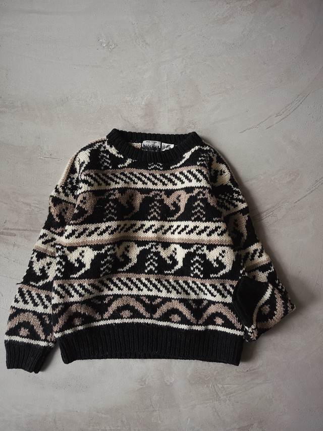 vintage nordic hand knit.
