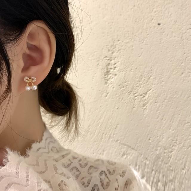 パール ピアス さくらんぼ風 ジュエリー ワンカラー B5734【1/24まで30%OFF!!】