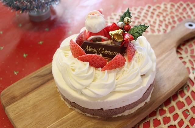 ■【12月】クリスマスジェラートケーキ■ジャージーミルクとチョコレート二層