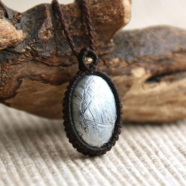 ■Semplice■ ギベオン隕石(メテオライト) ネックレス (一点モノ)