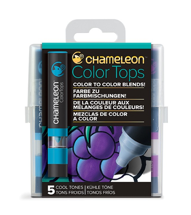 Chameleon Pen 5 Color Tops Cool Set (カメレオンペン 5本入りカラートップ クールセット)