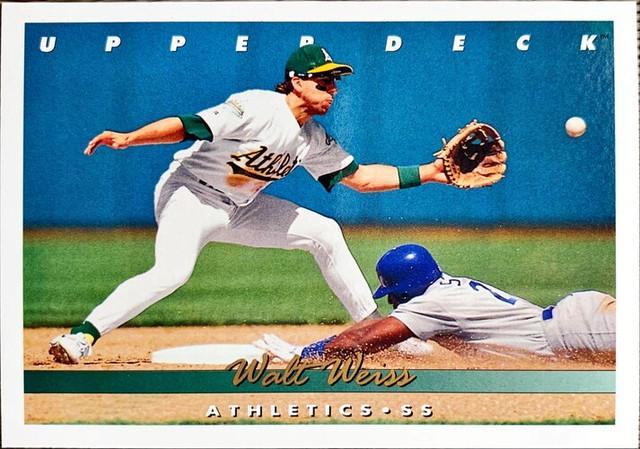 MLBカード 93UPPERDECK Walt Weiss #122 ATHLETICS