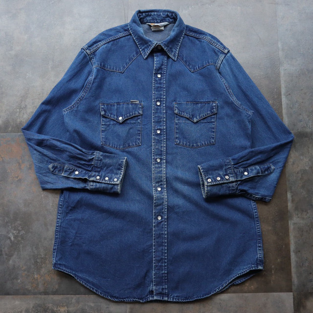 80~90s Carhartt denim western shirt