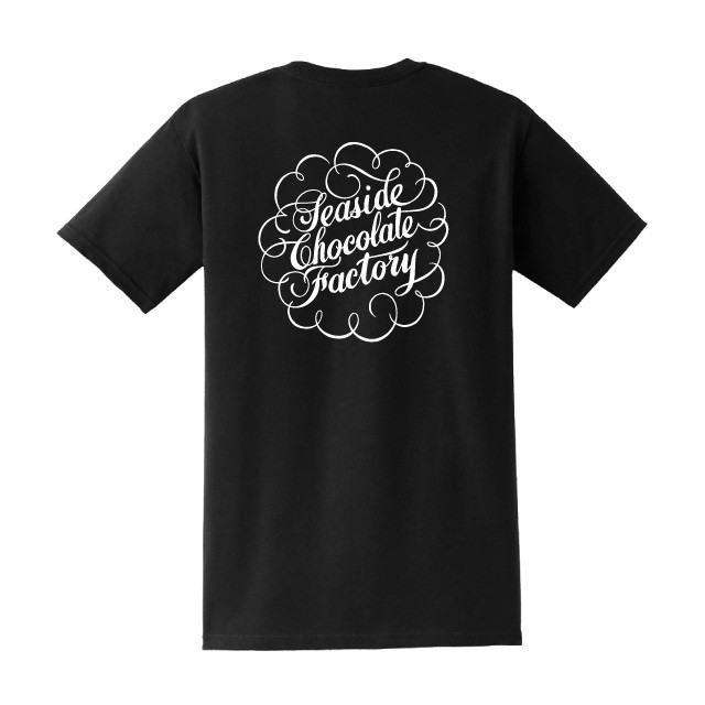 """Seaside Chocolate Factory"" S/S Tシャツ BLACK"