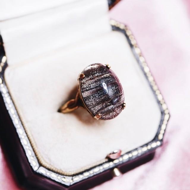 シャイニーストライプガラス リング(指輪)