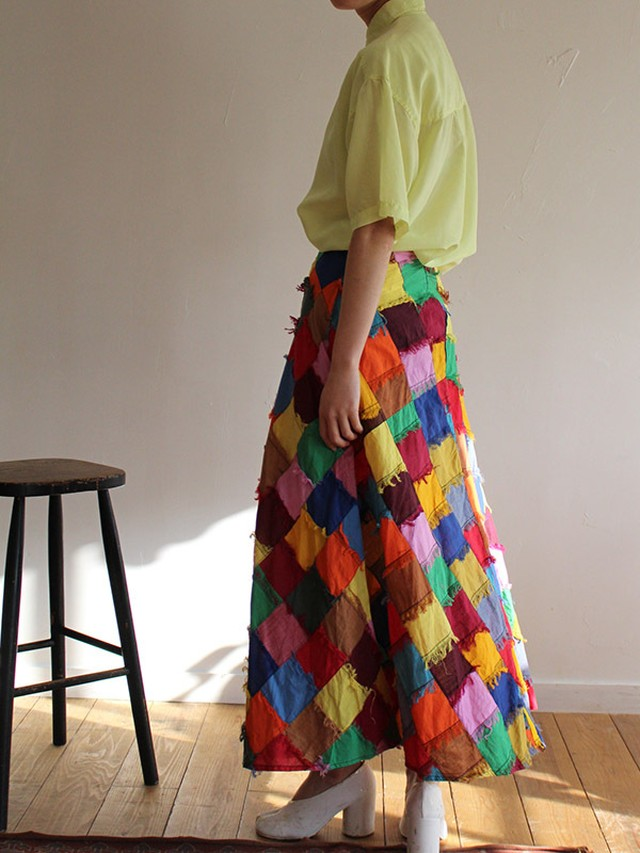 70s london vinatge patchwork skirt