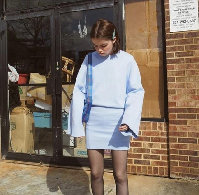 【VALET】KELLY CLIP IN BLUE GLITTER