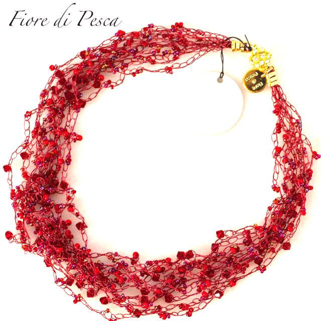 Croshet (Red) Necklace