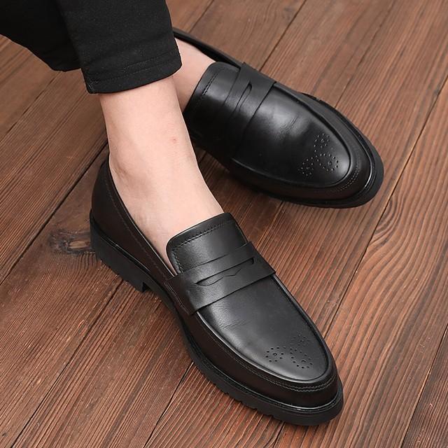 ローファー 本革 ビジネスシューズ メンズ レザー 革靴  shs-1188