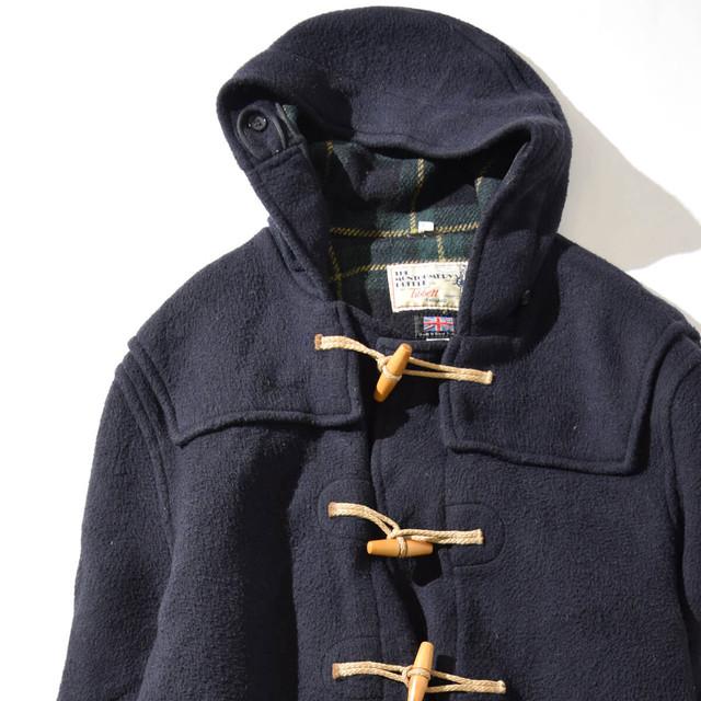 【Lサイズ寸】TIBBET チベット ENGLAND WOOLDUFFLE COAT イングランド ダッフルコート NAVY ネイビー UK48 400610191264