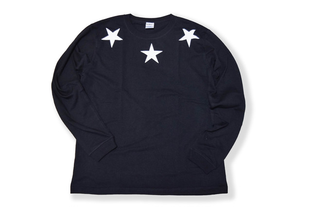 【Round star long sleeve】black