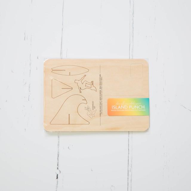ウッドポストカード Surfer