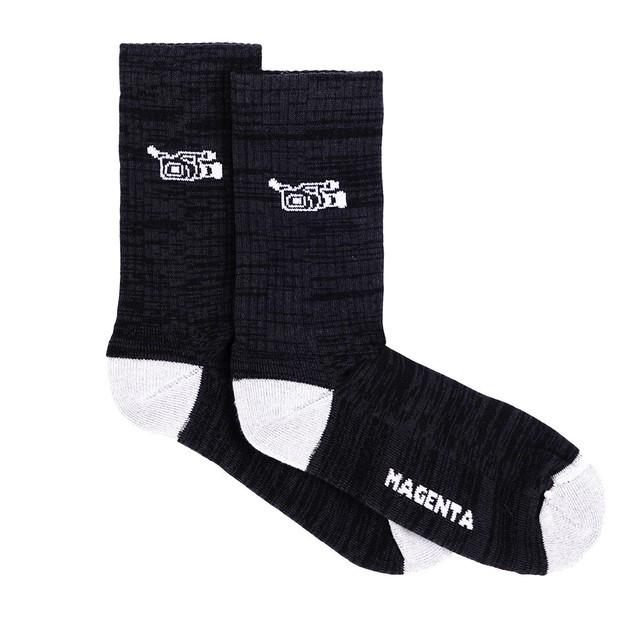 MAGENTA SP21 VX SOCKS BLACK/WHITE