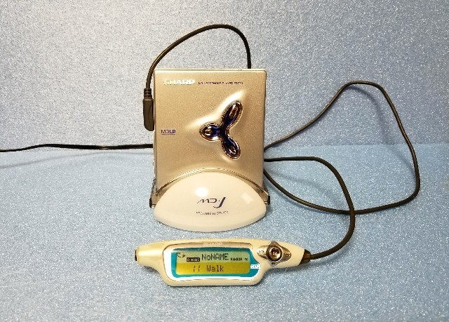 MDポータブルプレーヤー SHARP MD-ST770 MDLP 完動品