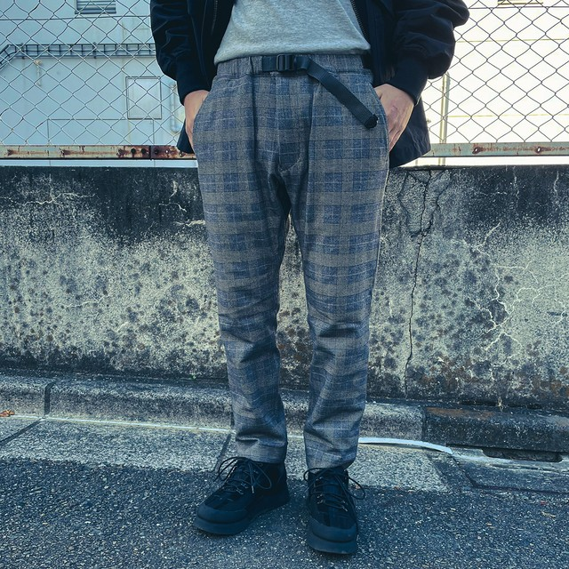 Glen Check Tapered Pants