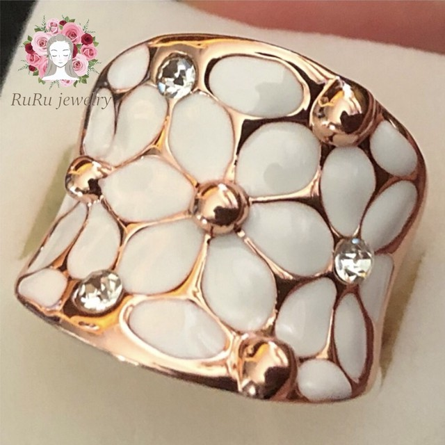 Floral white(ring)