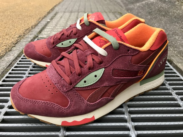 REEBOK x PACKER SHOES LX 8500 (MAROON/RED/GREEN)