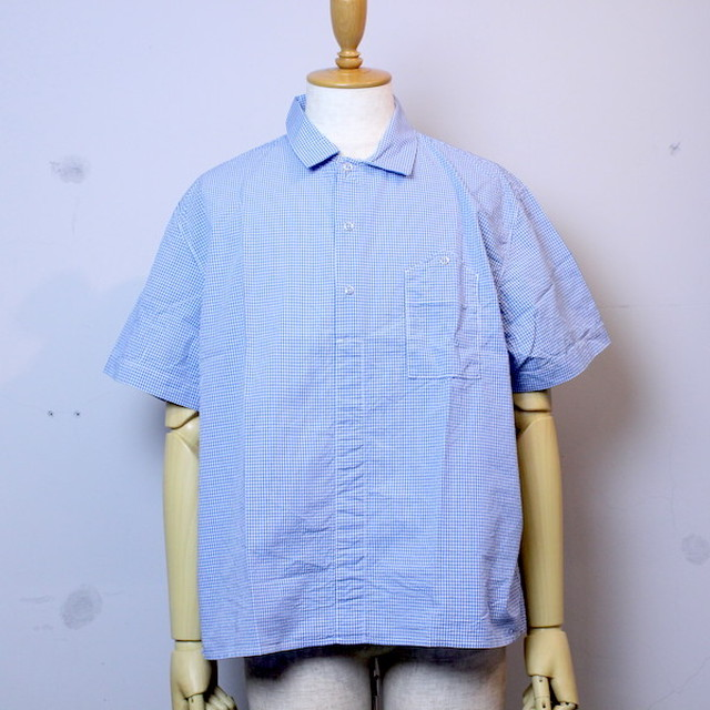 """20%OFF"" NECESSARY or UNNECESSARY(ネセサリーオアアンネセサリー) ""NEW GARAGE GINGHAM"" BLUE"