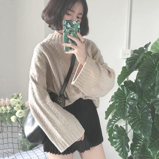【tops】レディースニットセーター秋冬合わせやすい全5色