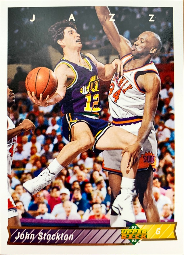 NBAカード 92-93UPPERDECK John Stockton #116 JAZZ