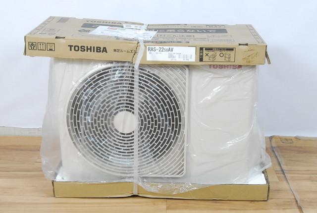 2582 未使用 TOSHIBA 東芝 ルームエアコン 室外機のみ RAS-2258AV 室内機 RAS-2258V(W)用 2018年製 愛知県岡崎市 直接引取限定