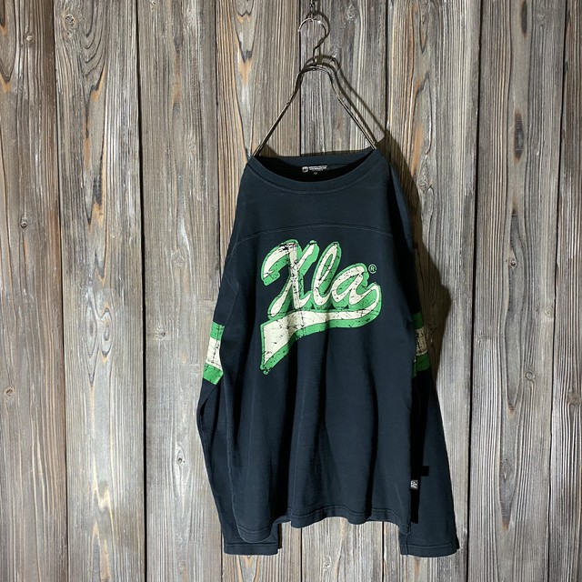 [X large]Xla crack design long T  shirt