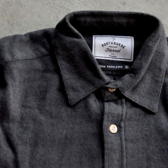 Portuguese flannel shirt -gray-