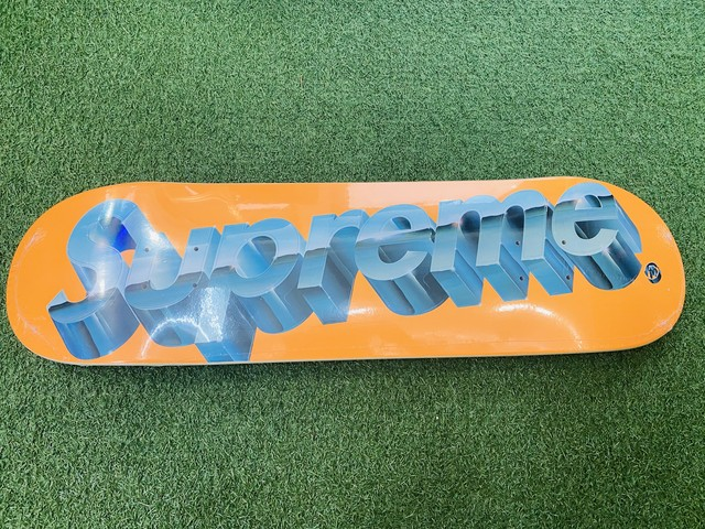 Supreme 20SS CHROME LOGO SKATEBOARD ORANGE 70JG7309