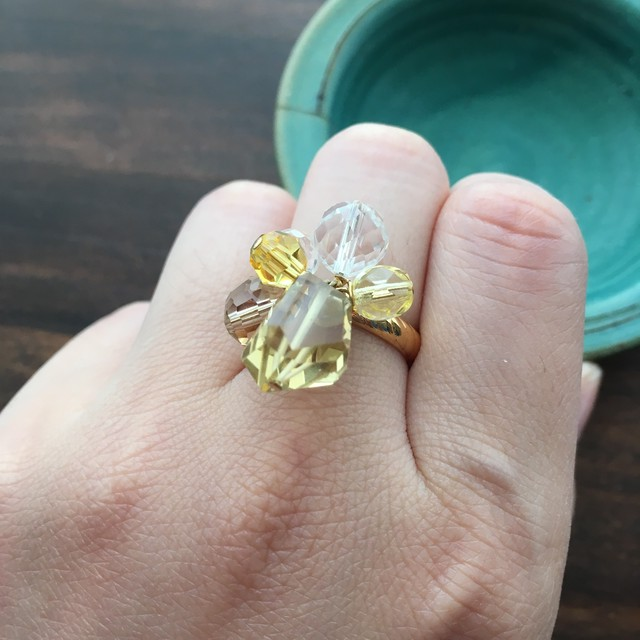 Twinkle bouquet ring レモン